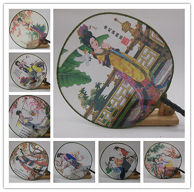 Chines Famous aulic Lady Calligraphy Hand Fan Bamboo Wall Art Wedding GIFT