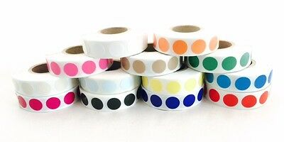 """1000/Roll  1/2"""" Circle Color Coded Label Dot Stickers - Inventory Code"""