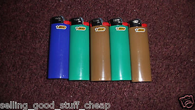 5 BIC Classic Lighters Cigar Cigarette MAXi Lighter Full Size 3,000 ASSORTED CLR