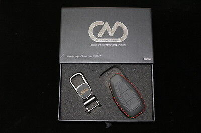 Ford Focus Mondeo Fiesta Galaxy Genuine Hand Made Leather Key Case Cover KR0008