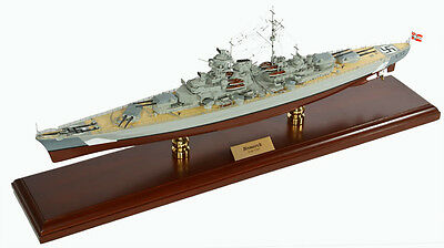 "WWII Bismarck German Battleship Assembled 30"" Built Wooden Model New"