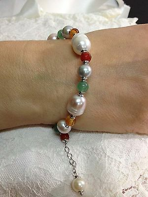 perle tormaline bracciale argento 925 made in italy