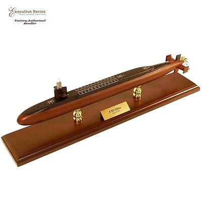 """US Navy Ohio Class Submarine Assembled 28"""" Built Large Wooden Model Ship"""