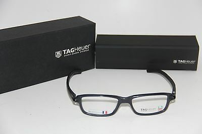 d34fc2ee319 NEW TAG HEUER Th 7602 007 Matte Black Eyeglasses Authentic Rx 52-17 ...