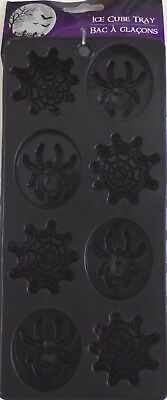 Halloween Party Jello Shot Chocolate Ice cube Tray Mold Silicone ~Black Spider