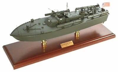 "WWII US Navy Torpedo Boat PT-109 John F Kennedy 24"" Wooden Model Ship Assembled"