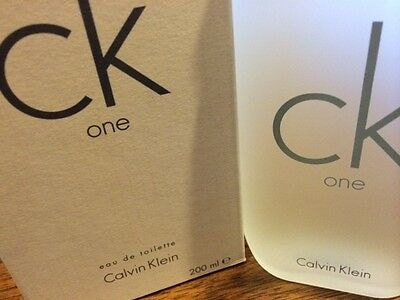 CK ONE by Calvin Klein 6.7 oz / 6.8 ( 200 ml ) EDT Spray UNISEX NEW IN BOX