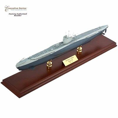 "WWII German U-Boat Submarine Assembled 17.50"" Built Large Wooden Model Ship New"