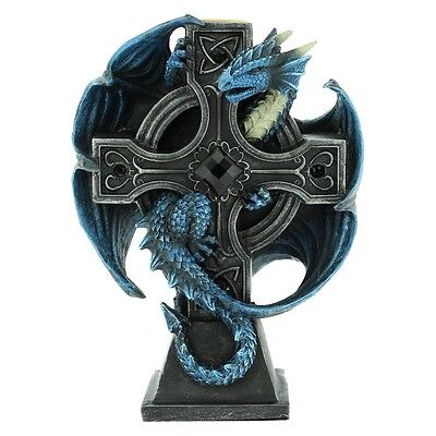 Draco Candela By Anne Stokes - Dragon on Cross Candle Holder | Nemesis Now