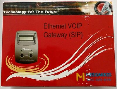 Mediakkis MIC-420ATA Ethernet VOIP Gateway (SIP) - New - Discount in Description