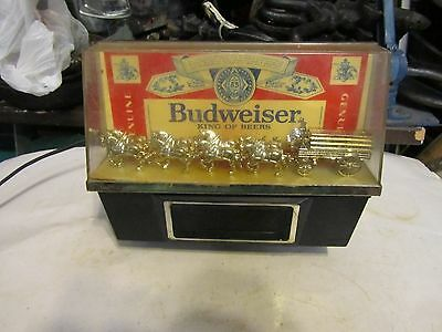 BUDWEISER REGISTER TOP LIGHTED CLYDESDALE SIGN DIGITAL CLOCK LIGHT HORSE union