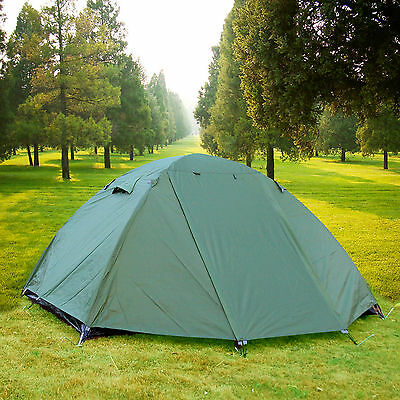 2 Person Double Layers Waterproof Camping Hiking Backpacking Tent w Rainfly