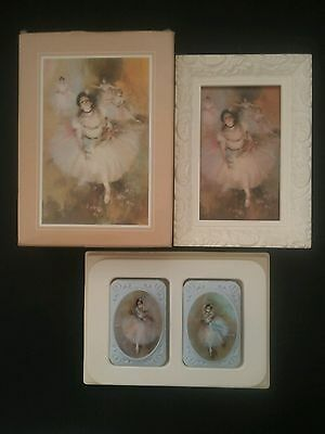 Avon Beauty In Motion Ballet Picture & 2 Special Occasion Fragranced Soaps Mint