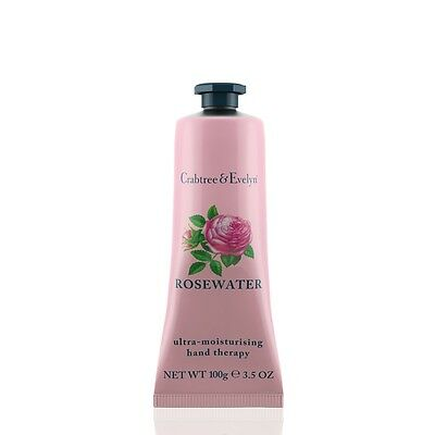 NEW Crabtree & Evelyn Rosewater Hand Therapy Cream 100g - Unboxed