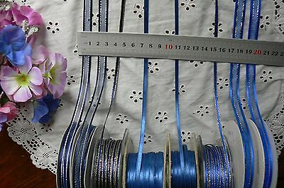 Satin & Metallic NAVY & ROYAL BLUE Ribbons 3,6,7&10mmWide 3,5&10Mtr MultiList BW