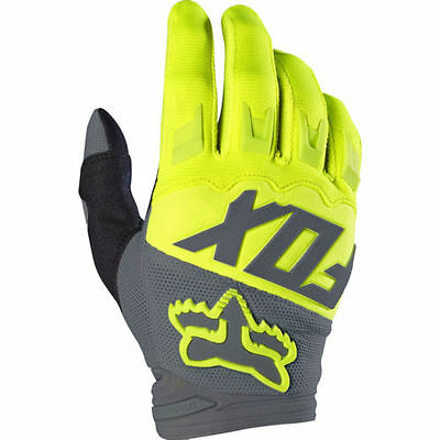 2017 Fox Youth Dirtpaw Race Glove Motorcycle Mtb Gloves Yellow Full Size Range