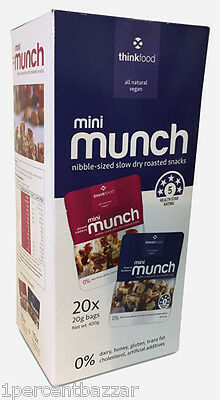 Thinkfood Mini Munch Variety Family Pack 40 x 20g - Almond Cranberry /Blueberry