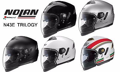Nolan N43E Trilogy 6-In-1 Motorcycle Helmet - N-Com Ready - Made In Italy