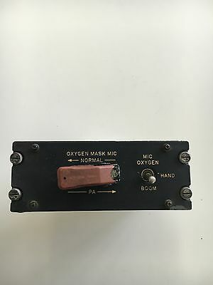 Aircraft Boeing B-727 747 Panel *As Removed* FO Mike Mikrophone Switch