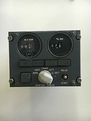Aircraft Boeing B-747 727 Panel Annunciator *As Removed* Total Fuel Trim Gravity