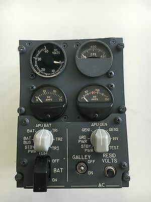 Aircraft B-737 Panel Indicator Instrument Annunciator*As Removed* Electric Power