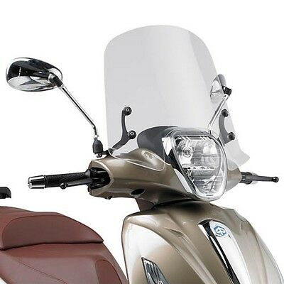 GIVI Windshield transparent for Piaggio Beverly 125ie/300ie 10/15 e 350 Sport To