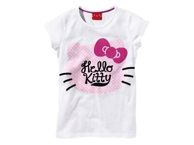 Girls T shirts Hello Kitty 100% cotton 2 3 4 5 6 7 8 9 10 years age 98 - 140 cm