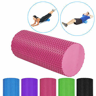 5 Colours EVA Yoga Pilates Foam Roller GYM Home Pialtes Texture Physio Massage