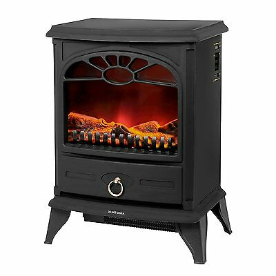 Easyhome 2Kw Electric Log Effect Stove Fire - Black - NEW with a 3yrs Warranty