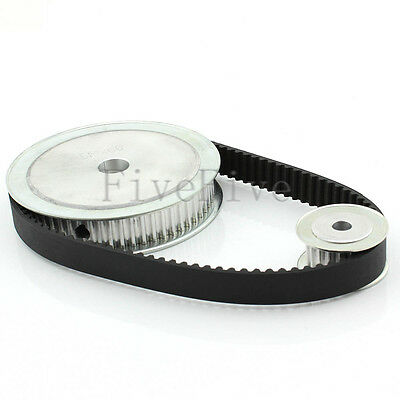 HTD5M 60/20 Teeth Wide-16 Pitch-5mm Timing Pulley Belt set kit Reducer Ratio 3:1
