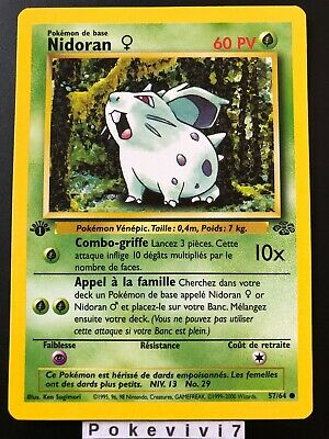 Carte Pokemon NIDORAN 57/64 Jungle Wizard Neuve Française EDITION 1