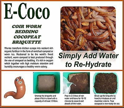 Worm Bedding,soil For Vermiculture, For Worms, Wormery, Wormeries - Composting