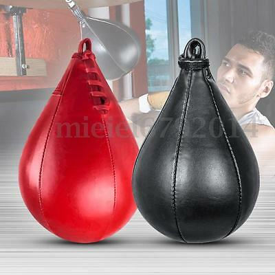 Leather MMA SpeedBall Punching Speed Ball Bearing Swivel Boxing Punch Training