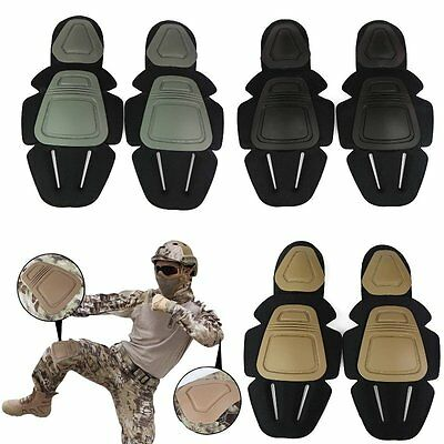 Tactical Airsoft Paintball Knee & Elbow Pads Protector V3 Combat Protective Gear