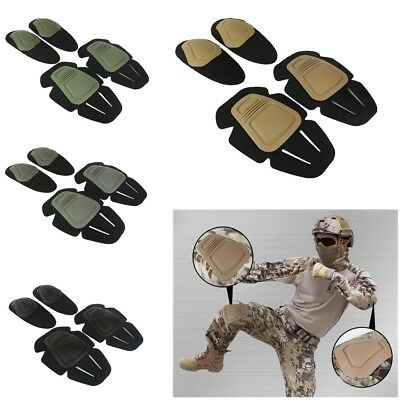 Tactical Military Airsoft Paintball Knee & Elbow Protective Pad Protector Gear