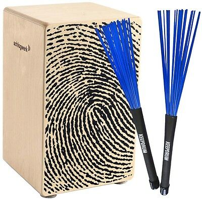 Schlagwerk CP 107 X-One Fingerprint Cajon + KEEPDRUM SV603BL Brush