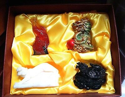 4 Feng Shui Celestial Animals Gift Box Set(Dragon,Turtle,Tiger,Phoenix)- home