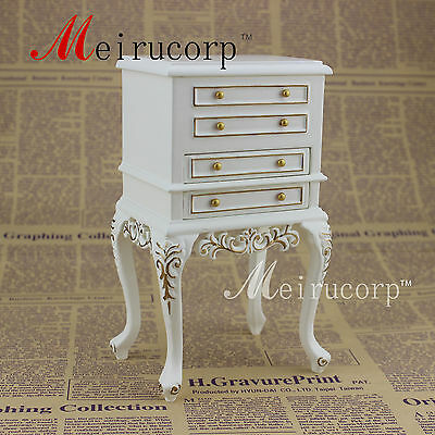 1/6 scale doll miniature furniture fine Handmade gilt Drawer cabinet