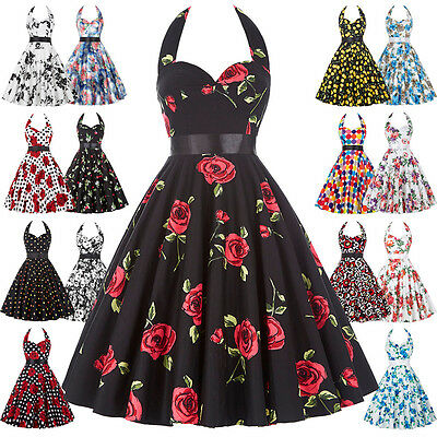 Robe Pin Up Retro Vintage style années 1950s 60s Swing Floral Rob