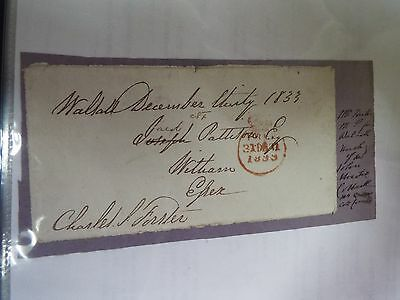 Charles Smith Forster - 1833 - Cut Signature