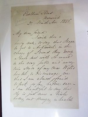 William Forster - 1812 - Autograph Letter Signed