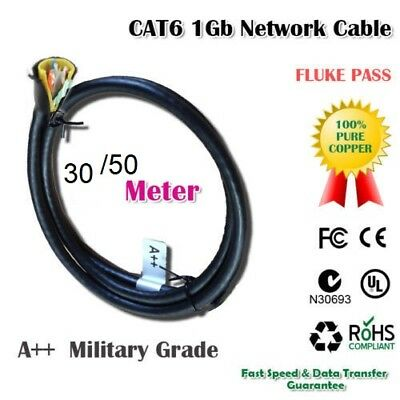 Solid Copper Cable Super Fast Speed CAT6 Network RJ45 1G Water Proof Outdoor LAN