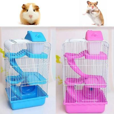 1X Hamster House Mouse Castle Habitat Mice Rat Cage Bottle 3 Layers Pet Supplies