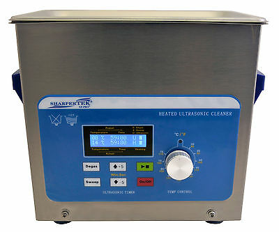 Heated Ultrasonic Cleaner By SharperTek with Sweep XPS120-3L 3/4 Gal.