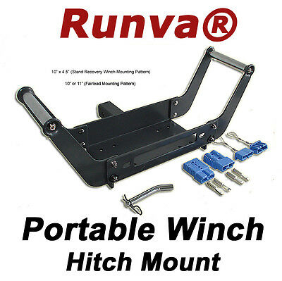 "ON SALE New Universal Winch Portable 2"" Hitch Mount 10"" X 4.5"" Mounting Pattern"