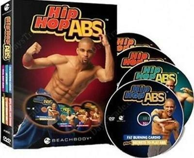 NEW HIP HOP ABS Level 1-2- 6 DVD SET 2cards SEALED Free Shipping