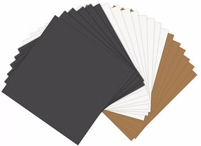 """Sizzix Paper Leather Sheets 6"""" x 6"""" Assorted Basics, 20 Pack 661146"""