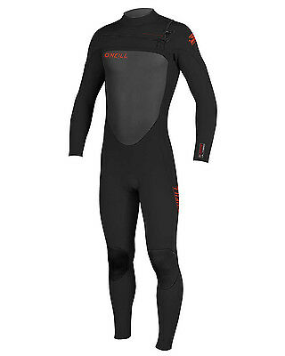 O'Neill Superfreak Mens 3/2mm Wetsuit (2016) in Black & Red - On Sale Now