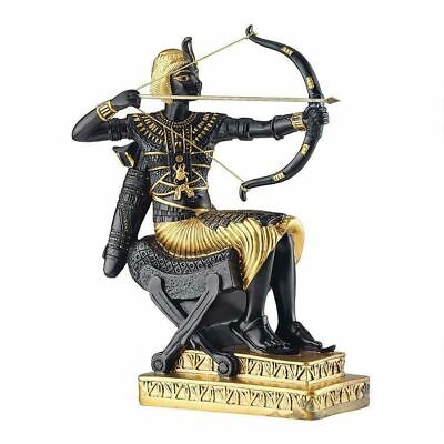 Antiqued Egyptian King Tutankhamun Hunting Archer Handmade Figurine Sculpture