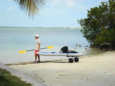 Foldable Kayak Kaboat Paddle Board Small Boat Trailer Carrier Dolly Cart Wheels